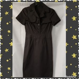 Club Monaco Black Collar Shirt Dress Size 2